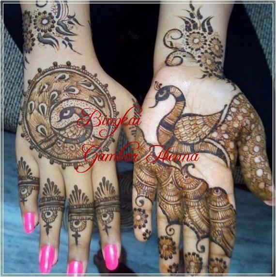 contoh henna gambar hewan