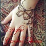 contoh henna kupu kupu