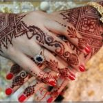 contoh motif henna untuk pengantin