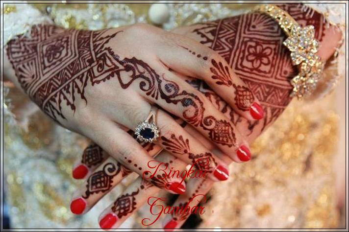 Contoh Motif Henna Untuk Pengantin Bingkaigambar Com