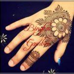 desain henna bunga simple
