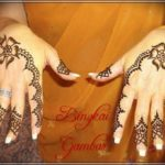 foto gambar henna pengantin