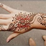 foto henna bunga simple
