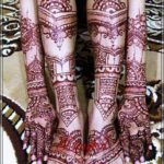 foto henna pengantin india