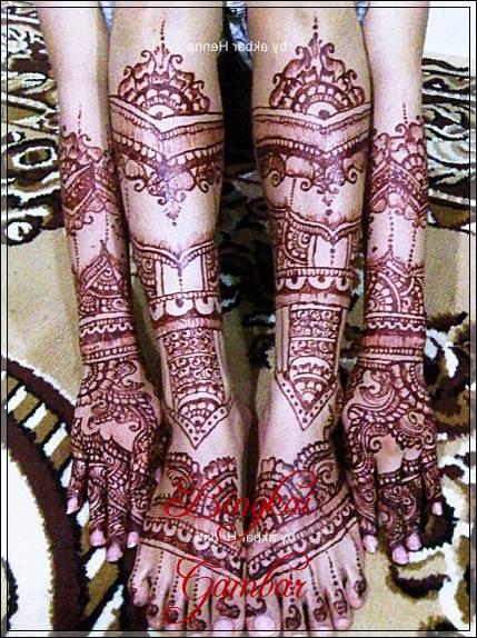 Desain Henna Pengantin India