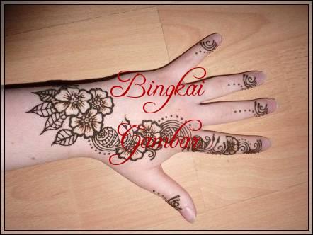 gambar bunga untuk henna
