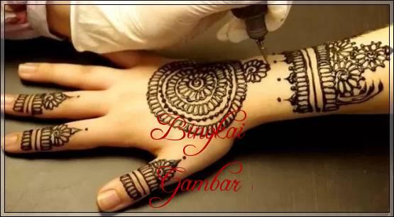gambar desain henna pengantin