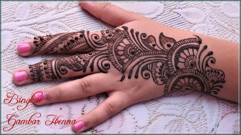 gambar henna ala arab