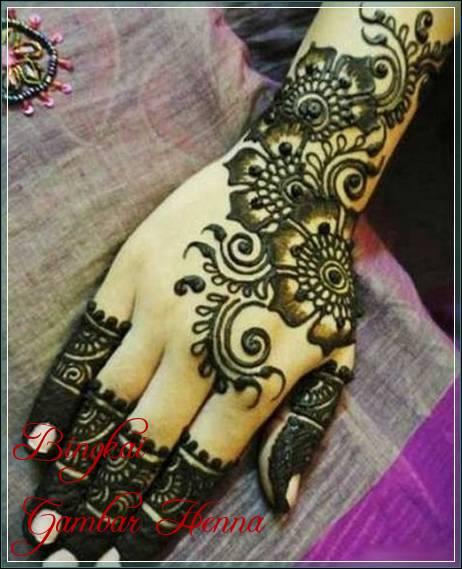 gambar henna arab simple