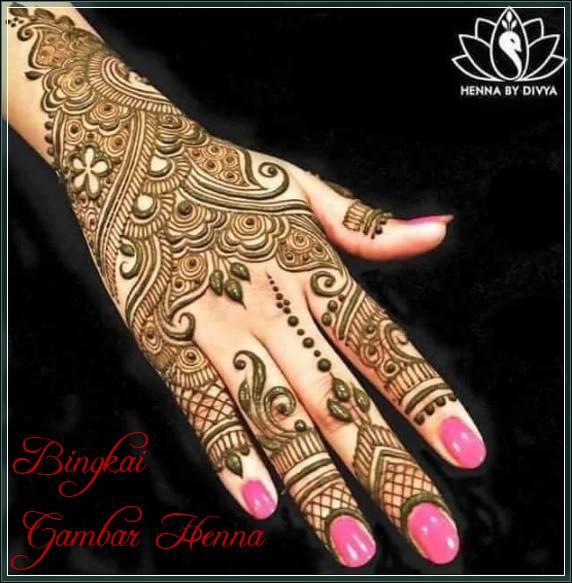 gambar henna bahasa arab