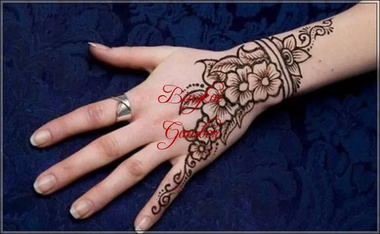 gambar henna bentuk bunga