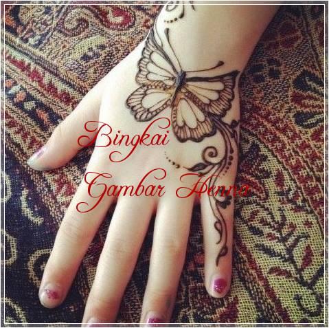 gambar henna berbentuk hewan