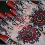 gambar henna bermotif bunga
