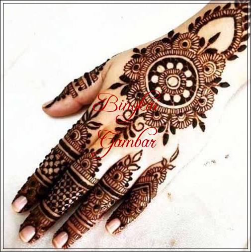 gambar henna bunga cantik
