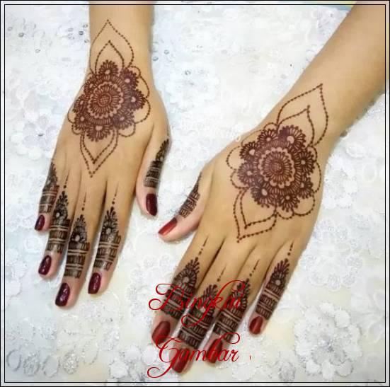 gambar henna bunga pengantin