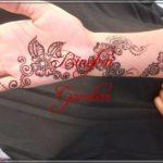 gambar henna bunga yang simple