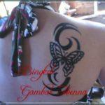 gambar henna kupu kupu