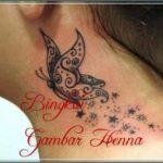 gambar henna kupu kupu simple
