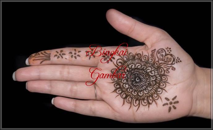 gambar henna motif bunga