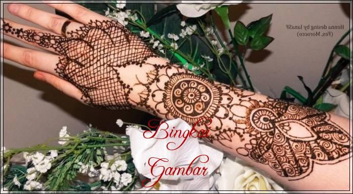 gambar henna pengantin ala india