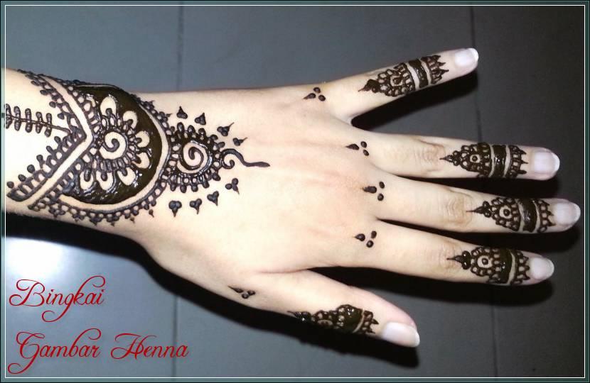 gambar henna pengantin arab