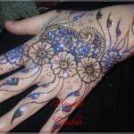 gambar henna pengantin glitter