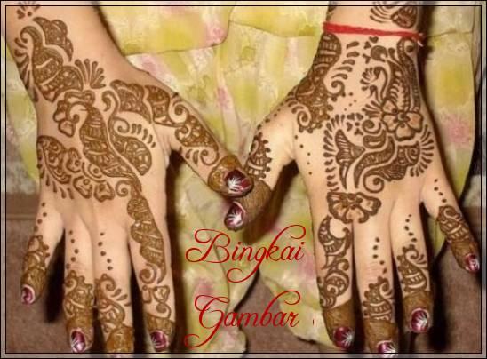 gambar henna pengantin indonesia
