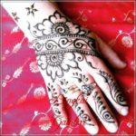 gambar henna pengantin motif bunga