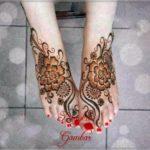 gambar henna pengantin untuk kaki