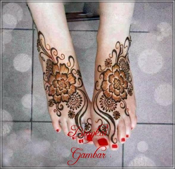 Gambar Henna Pengantin Untuk Kaki Bingkaigambar Com