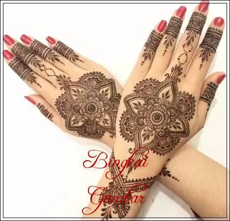 Gambar Henna Pernikahan Yang Simple Bingkaigambar Com