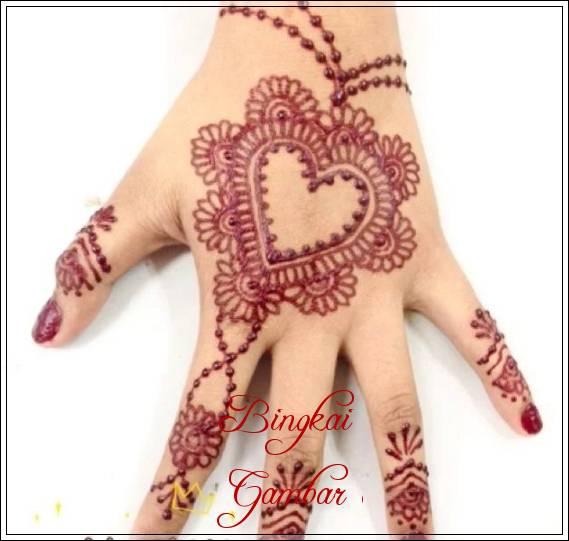 gambar henna sederhana untuk pengantin