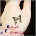 gambar henna tangan kupu kupu