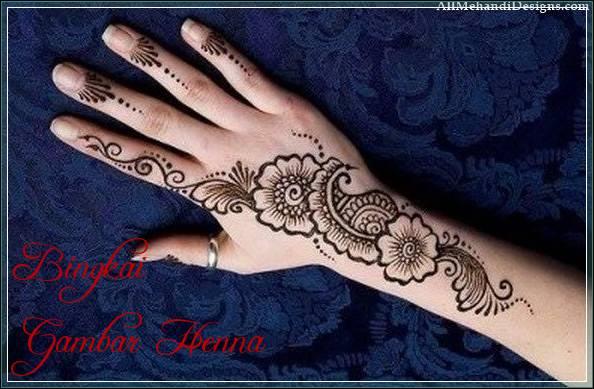 gambar henna tulisan arab