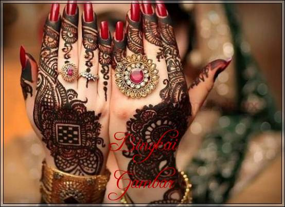 gambar henna yang cantik untuk pengantin