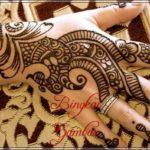 gambar lukisan henna pengantin