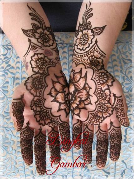 gambar motif henna pengantin