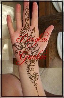 henna bunga simple dan mudah