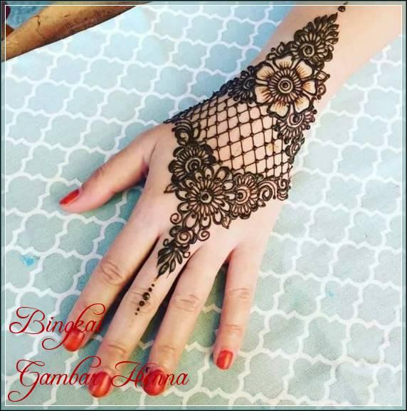 henna design arabic simple