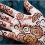henna di tangan simple motif bunga