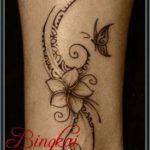henna kupu-kupu simple di tangan