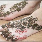 henna pengantin kaki simple