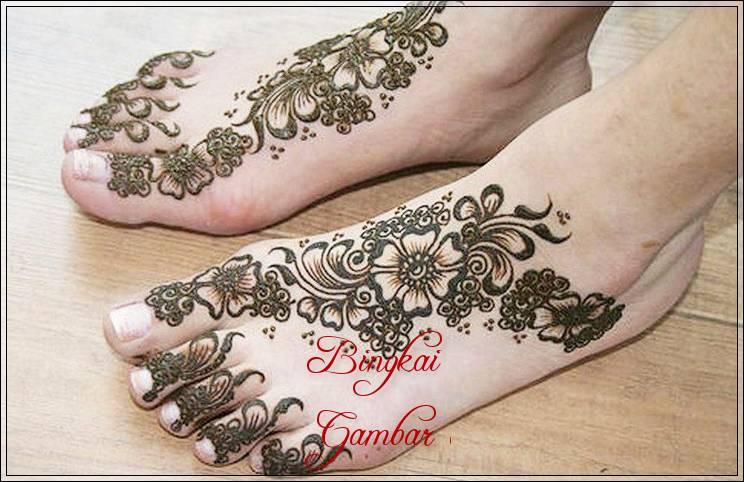 Henna Pengantin Kaki Simple Bingkaigambar Com