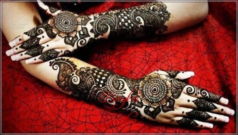 henna pengantin kulit hitam
