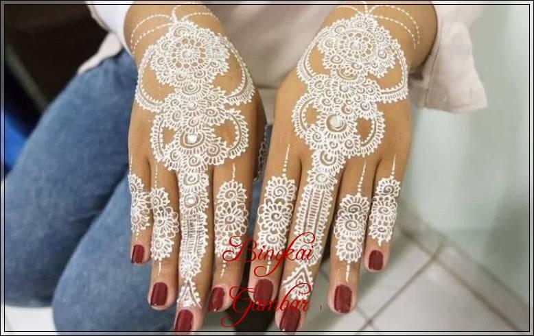 henna pengantin muslimah