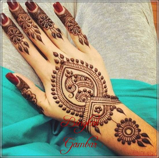 henna pengantin paling cantik