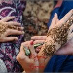 henna pengantin perempuan