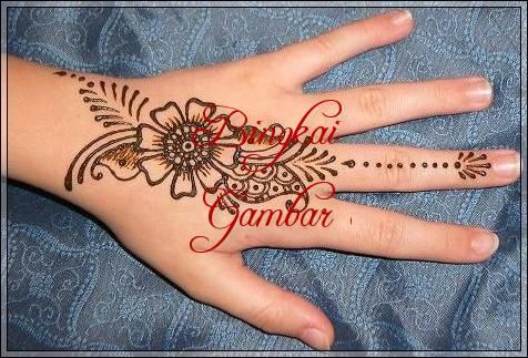 henna simple bunga mawar