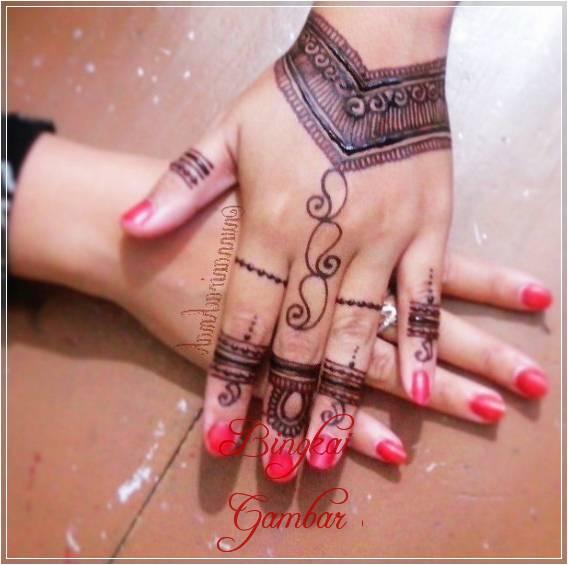 henna tangan motif cincin