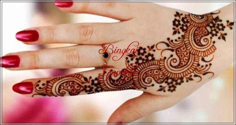 kumpulan gambar henna tangan bunga
